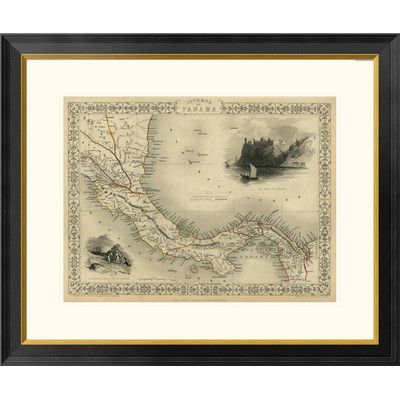 "Global Gallery Isthmus of Panama, 1851 by R.M. Martin Framed Graphic Art Size: 27"" H x 32"" W x 1.5"" D"