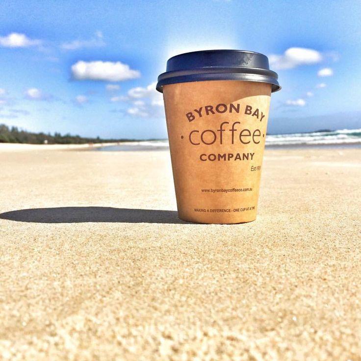 Coffee Halo.  Byron Bay Coffee Company and the sea. Happiness.