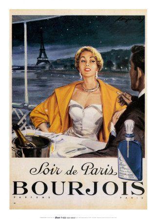 Vintage Bourjois perfume add.