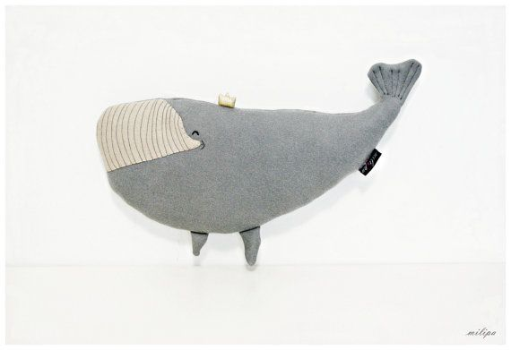DIANA - WHALE PRINCESS whale plush stuffed whale stuffed animal whale pillow whale cushion Gift Ideas Kids Baby Toys 17''/10'' (43cm/25cm)