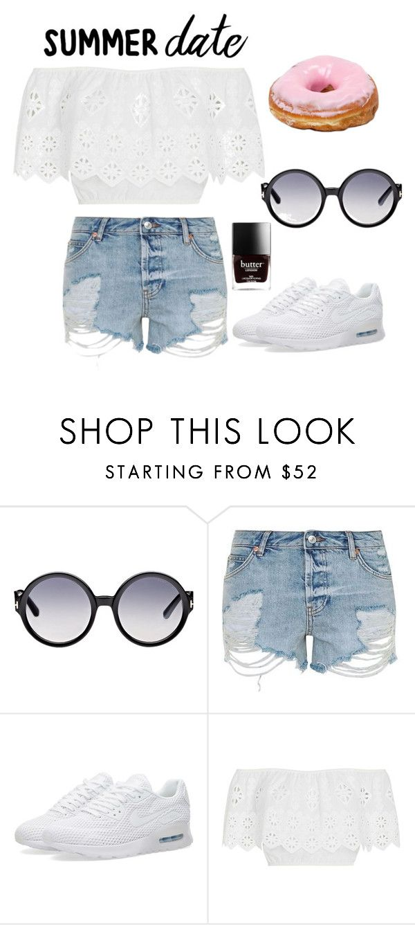 """Le top Bardot"" by luisamariafranco on Polyvore featuring Tom Ford, Topshop, NIKE et Miguelina"