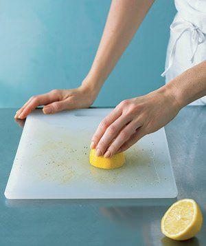 limpar tábua de cozinha
