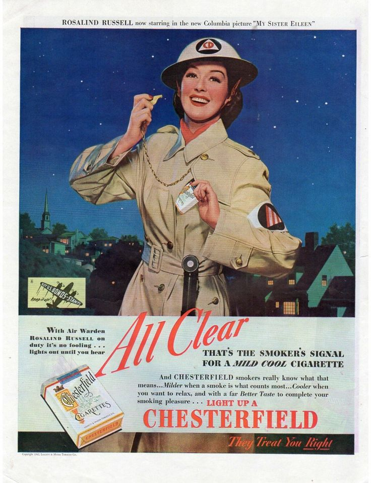 Vintage 1940s Chesterfield Magazine Print Ad Movie Star Campbell's Tomato Soup Advertisement