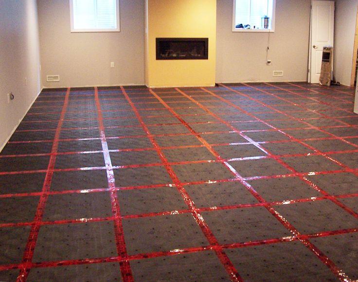 DryBarrier subfloor is very easy to install, says our customers! #dryBarrier #subfloor #basement #diy #homedecor