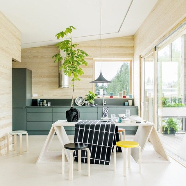 Marimekko at Jyväskylä Housing Fair, open until 10 August. Architecture of the house by Skammi and interior design by Marimekko. Welcome! #Marimekko #Skammi #Asuntomessut #MarimekkoAW14