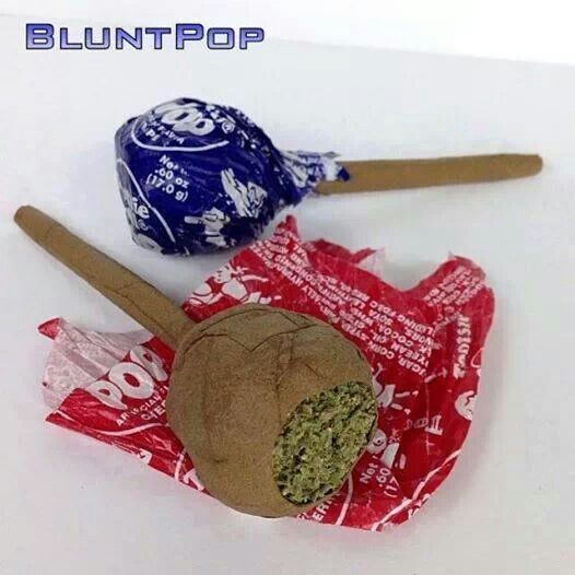 How many puffs does it take to finish a blunt pop? Hahaha