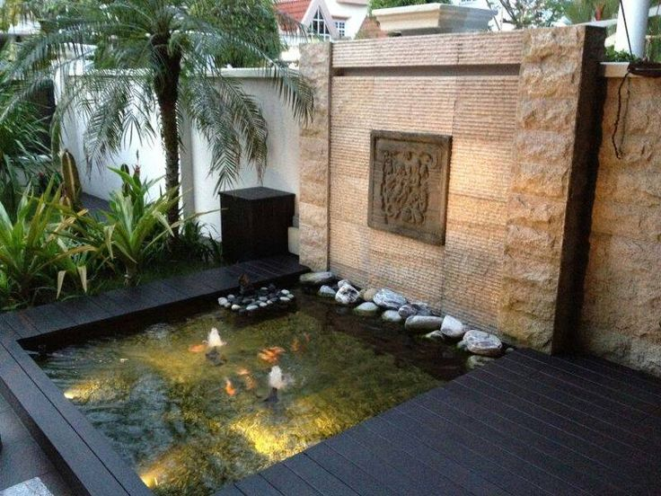 Rectangular Tiled Koi Ponds Google Search Water Features Pinterest Gardens Diy And