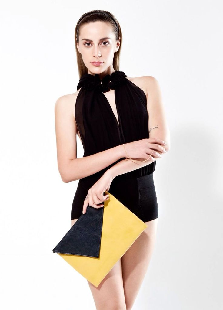 Bag - Envelope by Vassilis Thom!  Photographer: Christos Theologou   MUA/Hair: Christina Agatha   Styling: Yorgos Mesimeris   Model: Geena Mamak