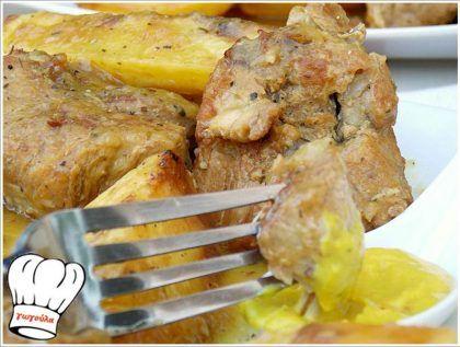 ΧΟΙΡΙΝΟ ΨΗΤΟ ΚΑΤΣΑΡΟΛΑΣ ΛΕΜΟΝΟΜΟΥΣΤΑΡΔΑΤΟ ΜΕ ΠΑΤΑΤΕΣ ΜΠΛΟΥΜ!!! - Νόστιμες συνταγές της Γωγώς!