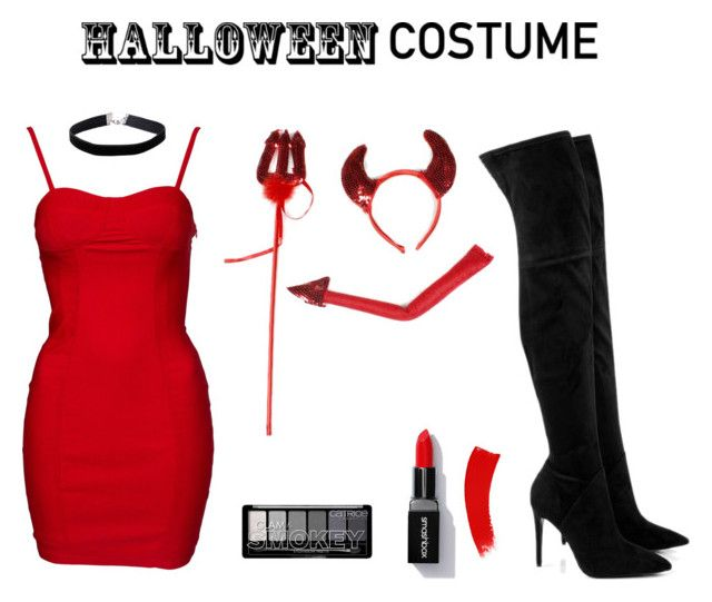 """DIY Sexy Devil Costume"" by jendarosa ❤ liked on Polyvore featuring Kendall + Kylie, Miss Selfridge, Sexy, bodycon, halloweencostume and DIYHalloween"