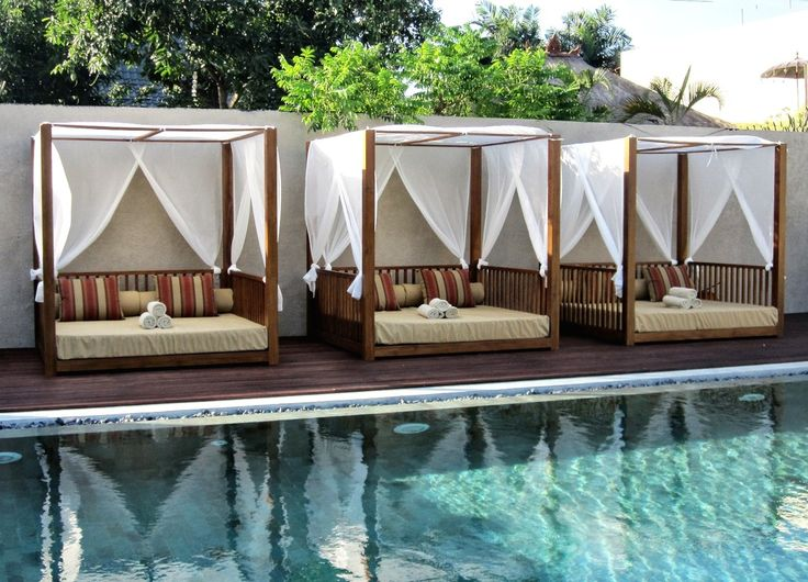 This beautiful daybed comes complete with a canopy that shelters the daybed on three sides to offer shade from the sun as well as privacy suitable for commercial use.  #sunbed #bali #balifurniture #customfurniture #design #furniture #furniturebali #furnituredesign #furniturejepara #furnituremaker #gardenfurniture #instadaily #instagood #interior #interiordesign #jeparafurniture #outdoor #outdoorfurniture #patiofurniture #picoftheday #tagforlikes #yunibali