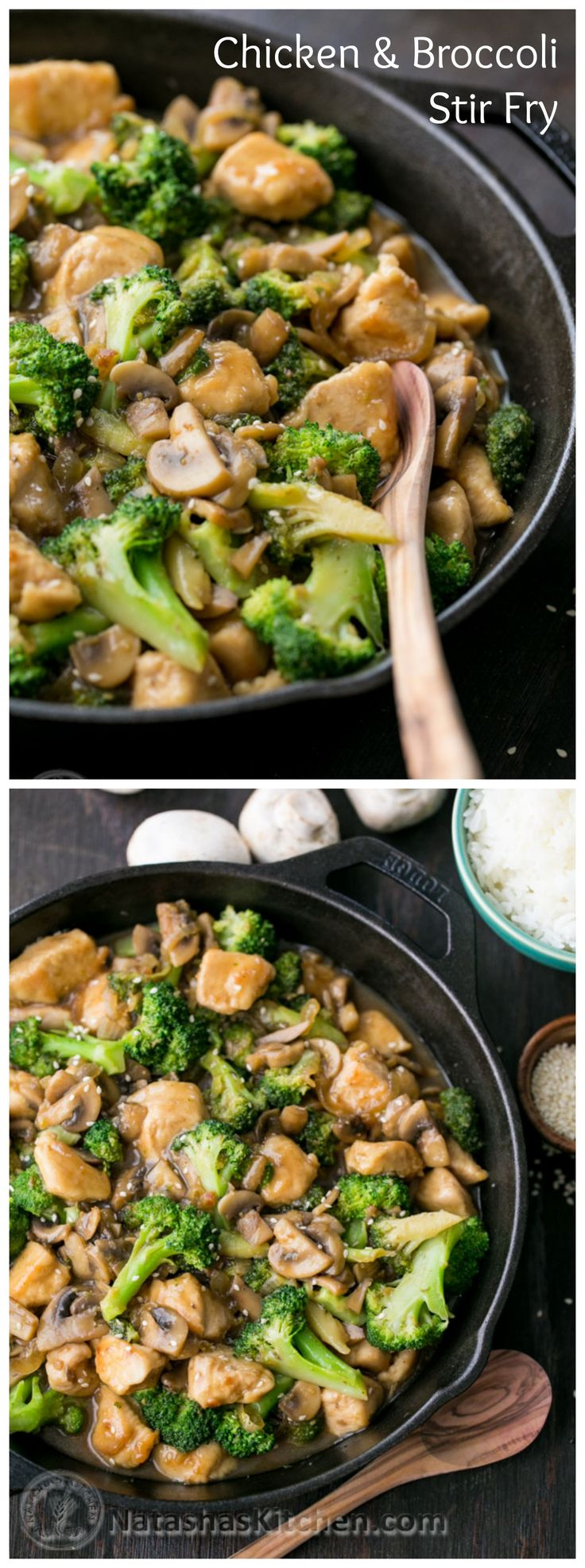 This chicken and broccoli stir fry is so tasty and much healthier than takeout! Use gluten free flour and tamari sauce { gluten free recipes, dinner ideas }