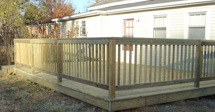 Pallet Wood Railing Installed Handrails Amp Decks Fence