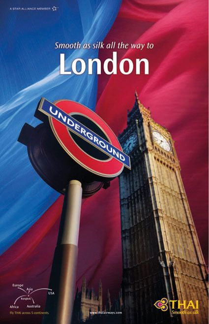 THAI Airways Destination Poster Collection on Behance #London