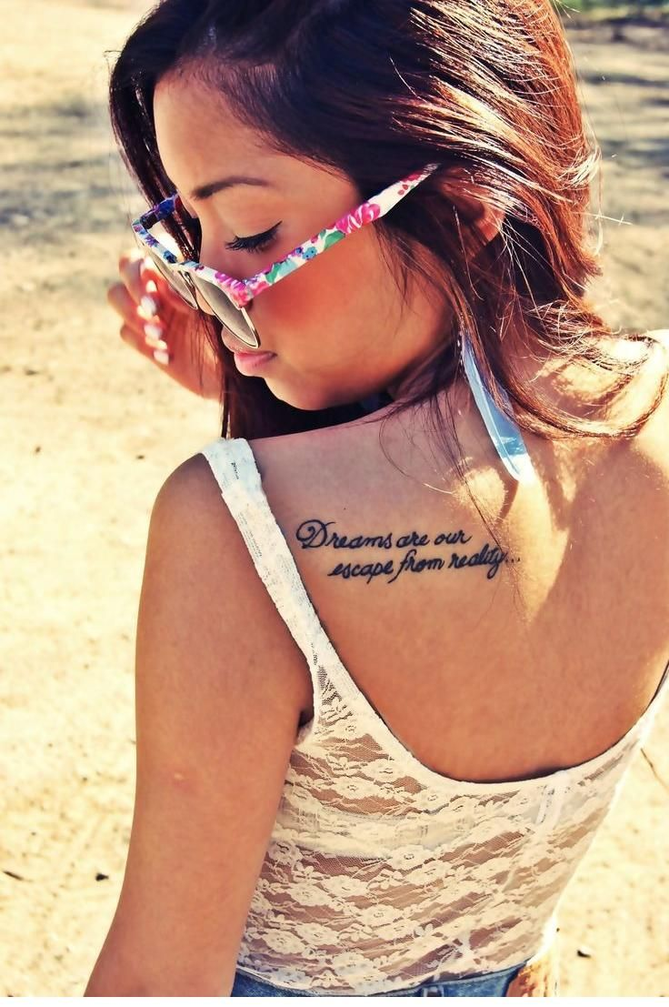 Top erkek giyim modelleri yeni tattoo tattoo s in lists for pinterest - Dreams Are Our Escape From Reality Quote Tattoo Maybe Instead Dreams Are Our Escape To A New Reality I Adore This