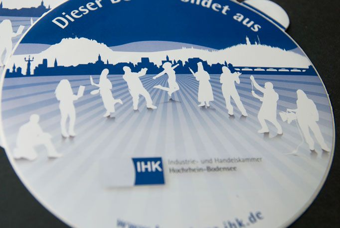 Sticker for IHK by deshalb.   Désha Nujsongsinn www.deshalbpunkt.de #deshalb #deshalbpunkt