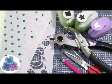 Como Hacer Plantillas Decorativas *How to Make a Stencil* Tutorial Españ...