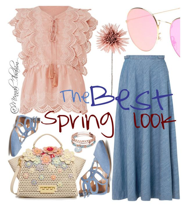 """""""#Spring #Flowery #feminine #Casual"""" by mennah-ibrahim on Polyvore featuring Deby Debo, ZAC Zac Posen, LC Lauren Conrad, Alex and Ani and Gabriela Hearst"""