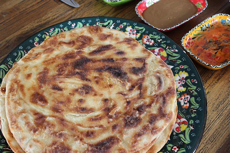 Katmer Ekmek / türkisches Brot aus der Pfanne