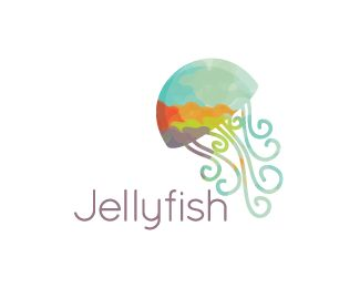 Jellyfish swirls Logo design - This logo is great for a wide range of business such as bed and breakfast, beach gift retail, restaurant, resort, travel agencies, tourism, cruises, fish recipes blog, seafood market, vacation location, home staging or home decor, Aquariums, pet stores, meal planner, seafood distributor, seafood shack, cafeteria, fashion, art and craft ,nature business , natural products, kids store, cosmetics,.. and much more any changes are free after purchase.<br…
