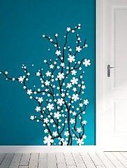 wallstickers Veggoverførings, moderne blomster grener pvc vegg klistremerker