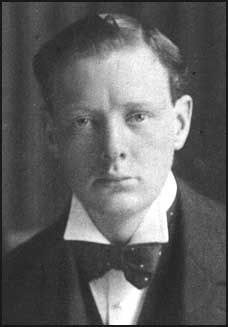 Sir Winston Churchill. He had red hair and piercing blue eyes.