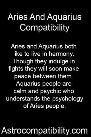 Aries and Aquarius both.... | AstroCompatibility.com
