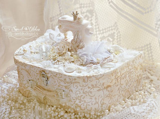 Lace Covered Lace Case. Scrapbooking.   Shabby chic