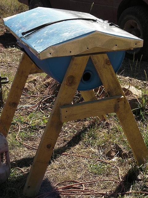 55 Gallon Barrel Top Bar Bee Hive ~ velacreations | Top ...