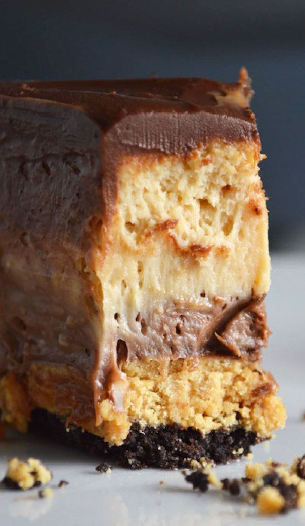 Ultimate Peanut Butter Chocolate Cheesecake