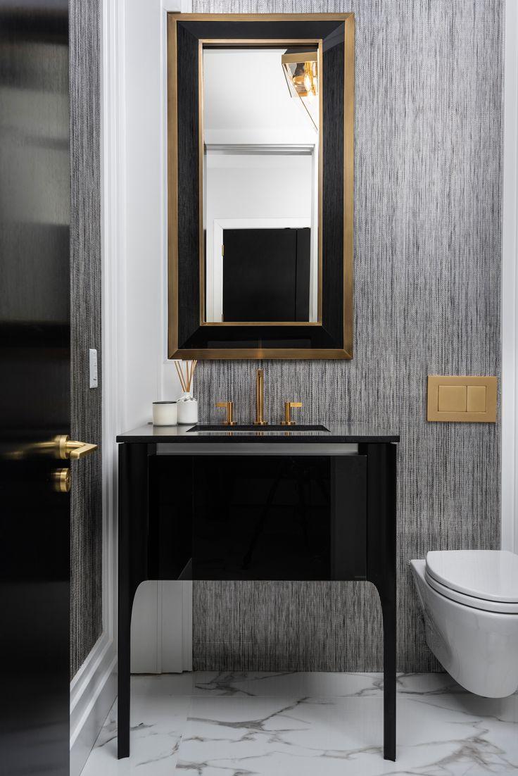 Stunning luxe powder room design Strauss Design. F…