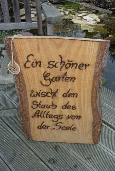Holzschild ♥♥Lebensweisheit♥♥ von Holz- Kreativ auf DaWanda.com