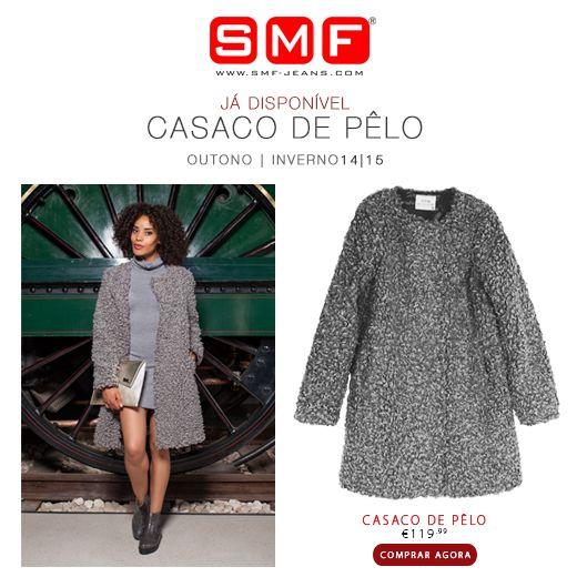 Pssst_SMF Casacos e Sobretudos Já Disponíveis nas Lojas! Veja aqui detalhes do Casaco de Pêlo: http://www.smf-jeans.com/casaco-8464