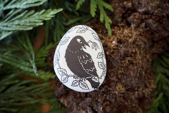 stone  the raven's gift by littlevagaries on Etsy