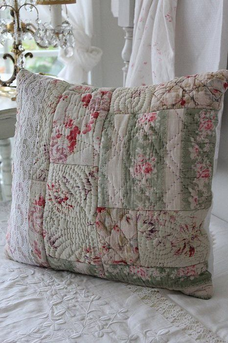 different quilting designs in each small area. Something to try.