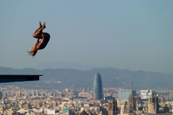 Tonia Couch of Great Britain competes in the Women's 10m Platform Diving final  on day six of the 15th FINA World Championships at Piscina Municipal de Montjuic on July 25, 2013 in Barcelona, Spain.