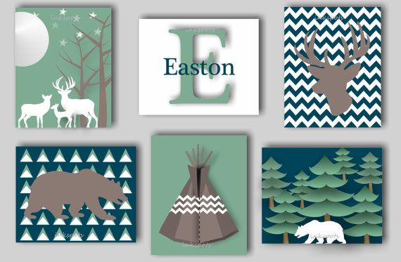 Hey, I found this really awesome Etsy listing at https://www.etsy.com/listing/216401746/baby-boy-nursery-art-deer-nursery