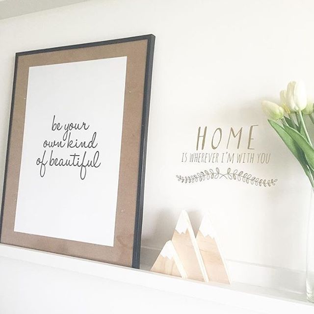 Loving this styling of our be your own kind of beautiful print by @myhomestyle89 ☺️ thank you so much xx link for shop in profile. #wallart #artprints #decor #beautiful