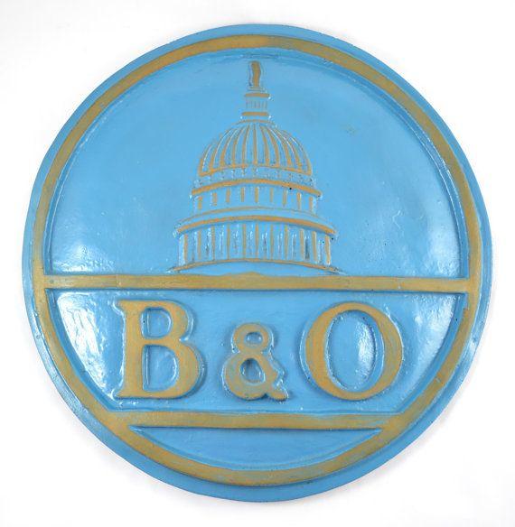 Baltimore and Ohio Railroad Authentic Reproduction Plaque / Plate, B & O RR, Walter E. Lee Inc. Collectible by vintagecornerbazaar. Explore more products on http://vintagecornerbazaar.etsy.com