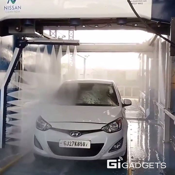 The touchless car washing system is neat.