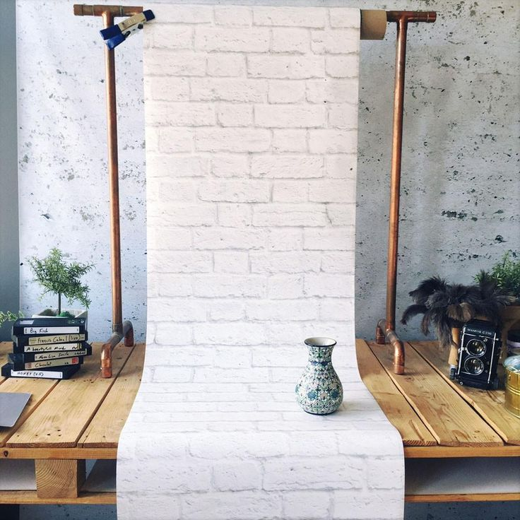 Classic White Bricks Wallpaper - Papier Peint Briques Blanches Classiques