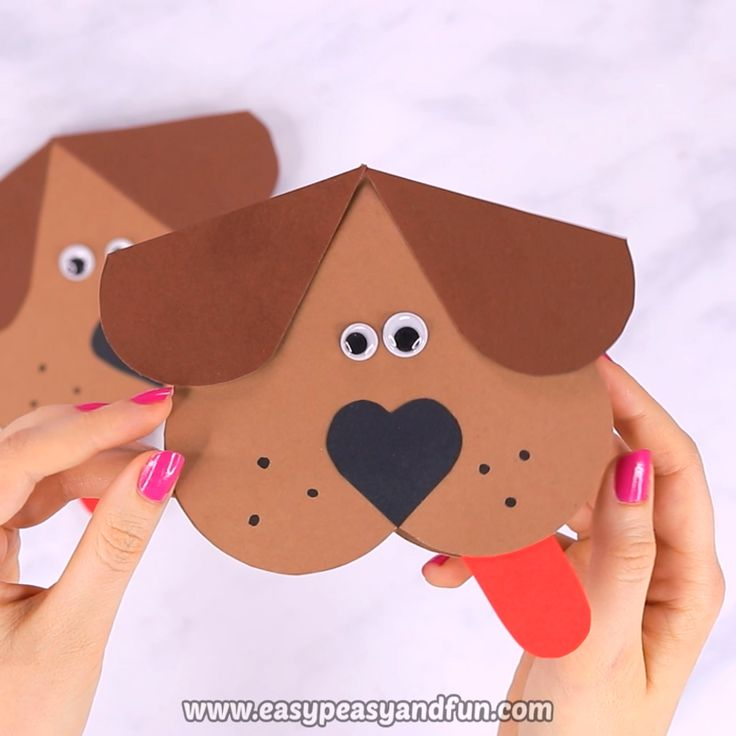 Heart Dog Craft – DIY Valentine's Day Card Idea  – school