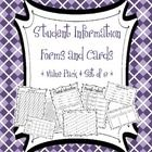 Student Information Teacher Forms Includes 8 great forms to help you keep up with important student information! * Student Information Sheet * Pare...