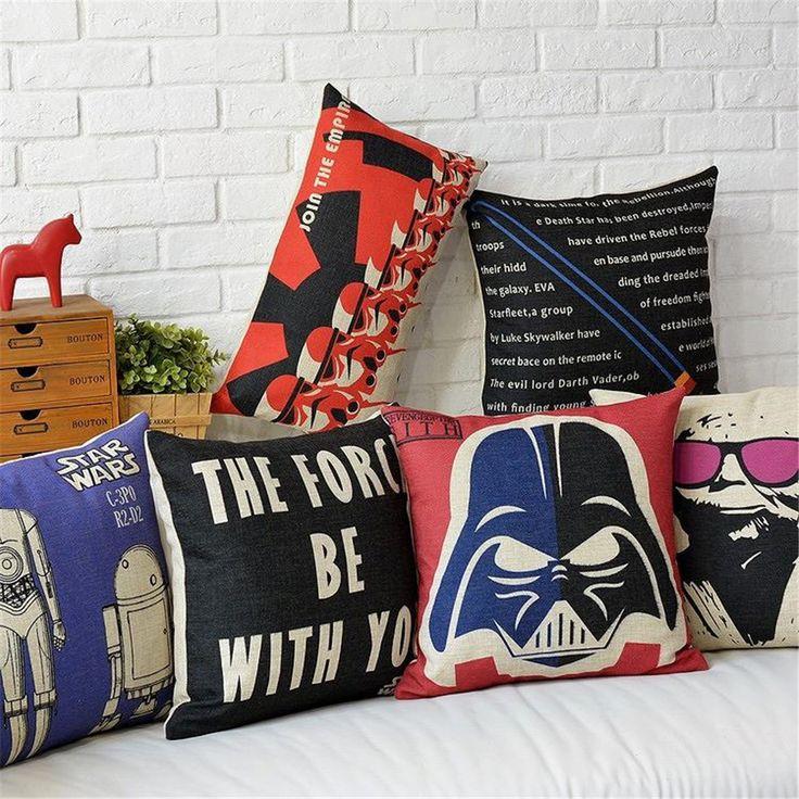 1 шт. звездные войны декоративные постельным бельем наволочки бросить чехол дети подарок купить на AliExpress