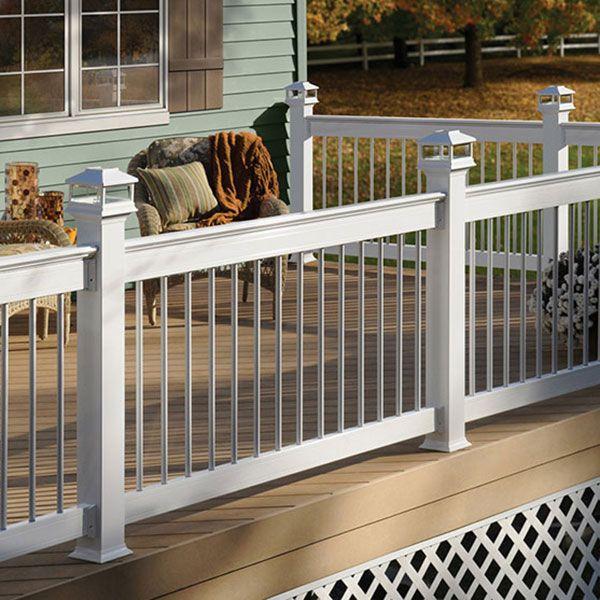 Best Deckorators Aluminum Deck Railing In White With 400 x 300