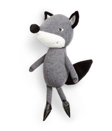 Knit Grey Fox Product Detail H M Us Kids Modern Toys Gear