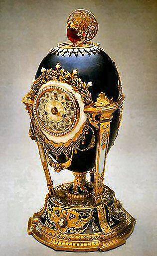 Faberge - Cuckoo Egg - gold, enamel, diamonds, rubies, pearls, feathers Faberge eggs  1900 Cockerel Egg http://www.mieks.com/faberge-en/1900-Cuckoo-Clock-Egg.htm