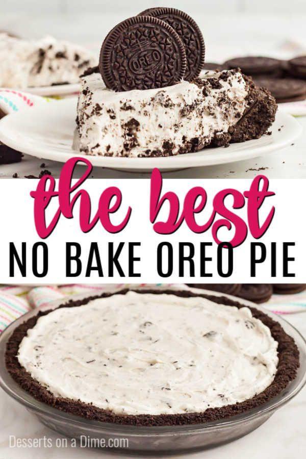 No Bake Oreo Pie Recipe Easy Oreo Pudding Pie Recipe Recipe Easy Baking Recipes Dessert Recipes Easy Baking