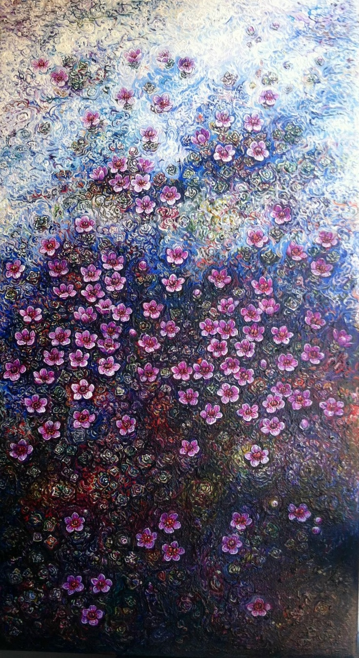 Eggert Pétursson.  Winterflowers painting