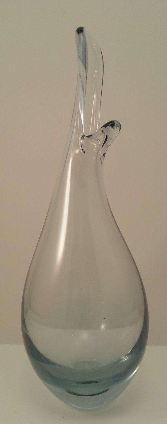 Per Lutken Holmegaard Glass Beak Bud Vase Mid by Snowyowltreasures